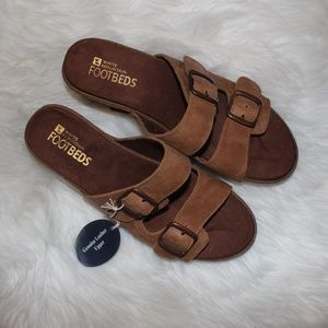 White Mountain Chandler Genuine Leather Sandals❤️
